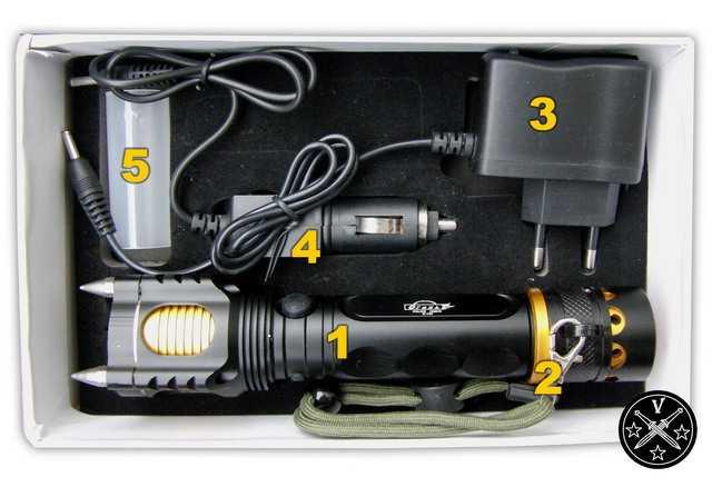 3)Бюджетный тактический фонарь
