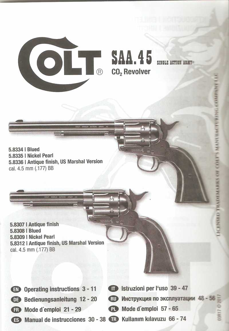 4)Обзор и впечатления о Umarex Colt Single Action Army (Миротворец, Фронтир, Шестизарядник)