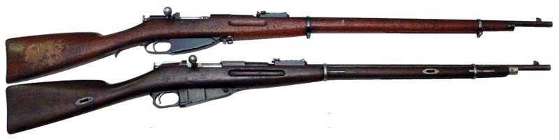 5)7,62-мм магазинная винтовка системы Мосина