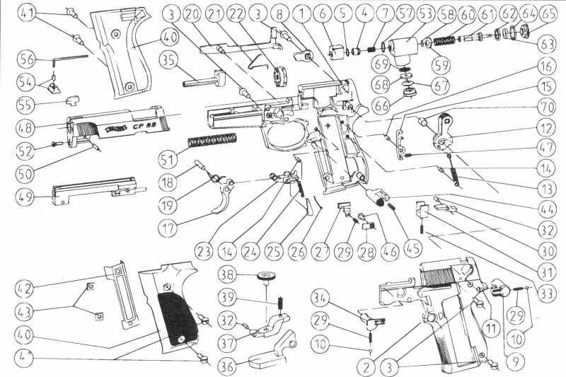 10)Взрыв-схемы и коды запчастей пистолетов (Umarex)