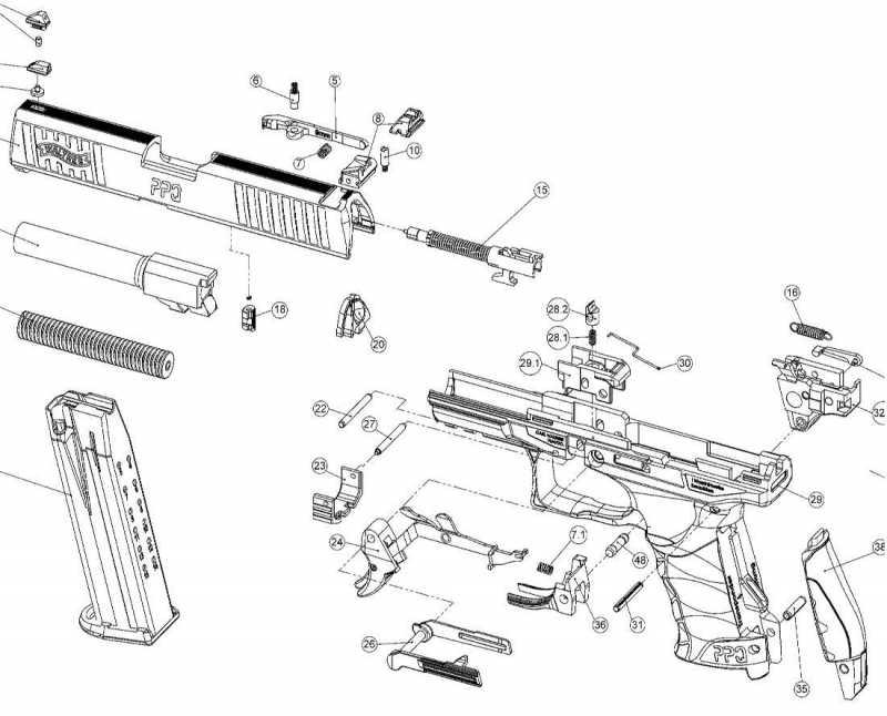 13)Взрыв-схемы и коды запчастей пистолетов (Umarex)