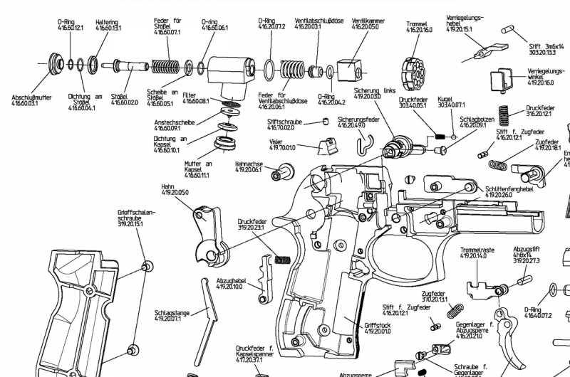 2)Взрыв-схемы и коды запчастей пистолетов (Umarex)