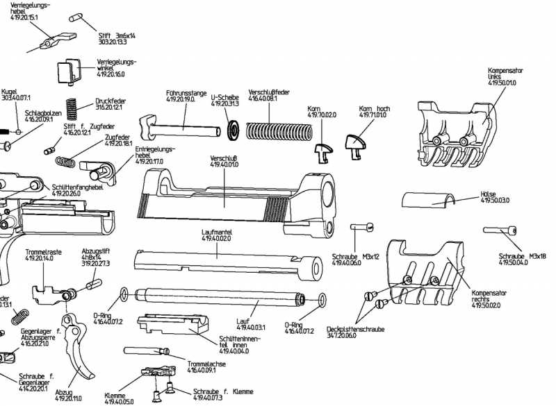 4)Взрыв-схемы и коды запчастей пистолетов (Umarex)