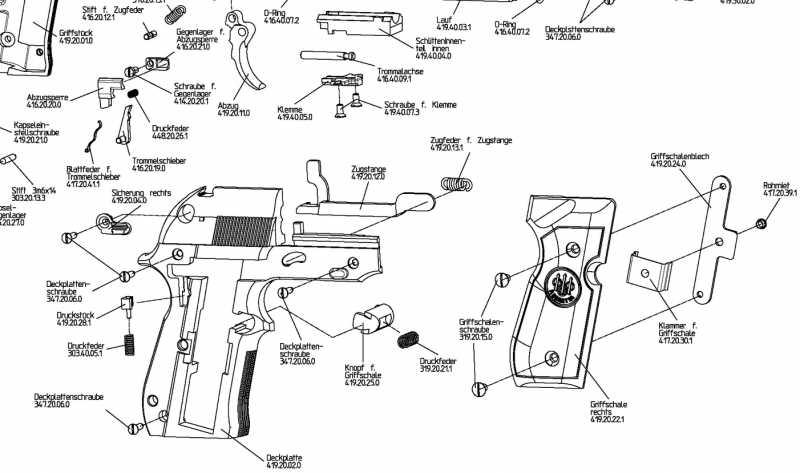 5)Взрыв-схемы и коды запчастей пистолетов (Umarex)