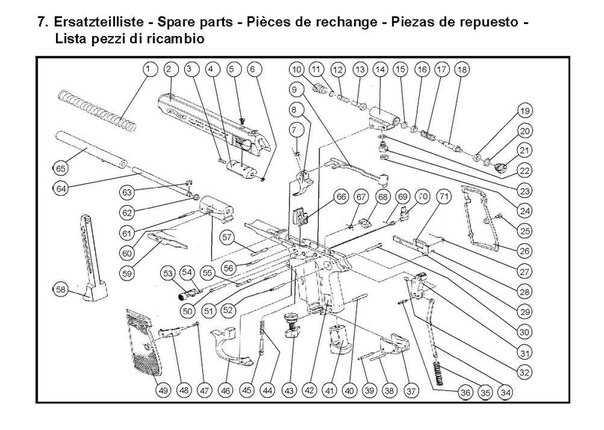 14)Взрыв-схемы и коды запчастей пистолетов (Umarex)