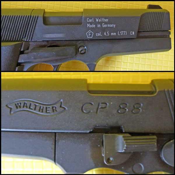 3)Обзор пистолета Umarex Walther CP88