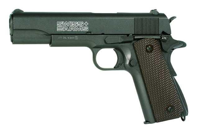 2)Пневматический пистолет Swiss Arms P1911