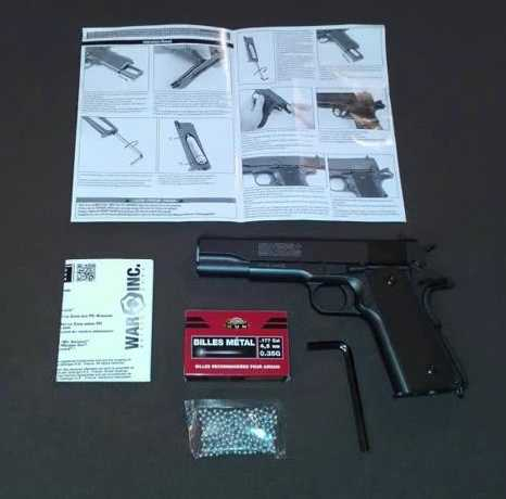 8)Пневматический пистолет Swiss Arms P1911