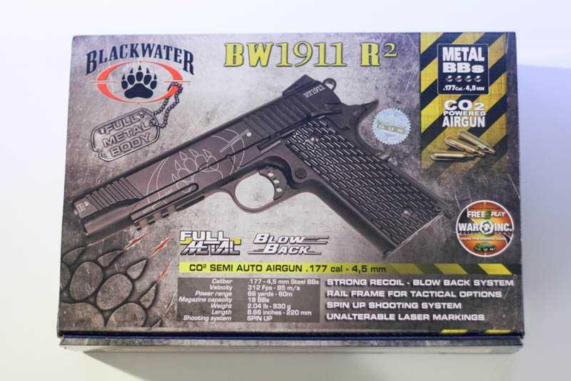 3)Пневматический газобаллонный пистолет Swiss Arms BW1911 R2