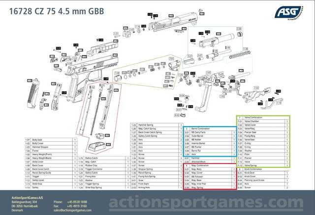 Взрыв-схема ASG CZ75 P07Duty