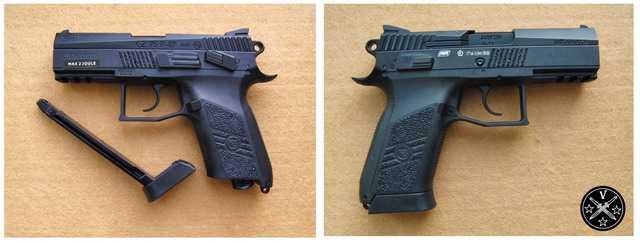 Пневматический пистолет airgun ASG CZ75 P07 Duty Blowback Black
