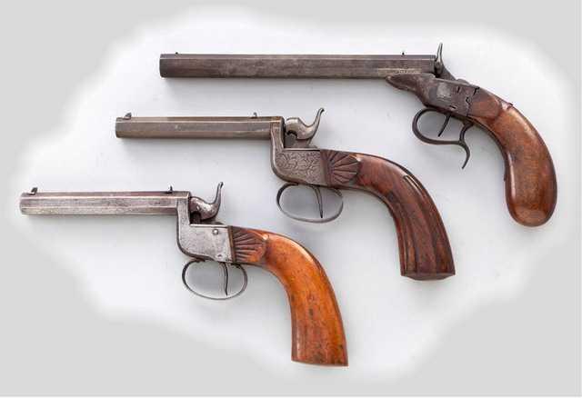 Револьверы Флобера конца 18 - начала 19 века