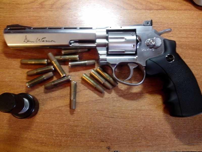 1)Стрельба с ASG Dan Wesson 6