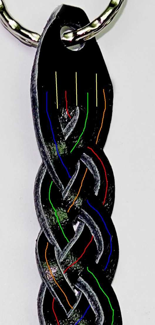 7)Темляк-брелок из кожи своими руками.