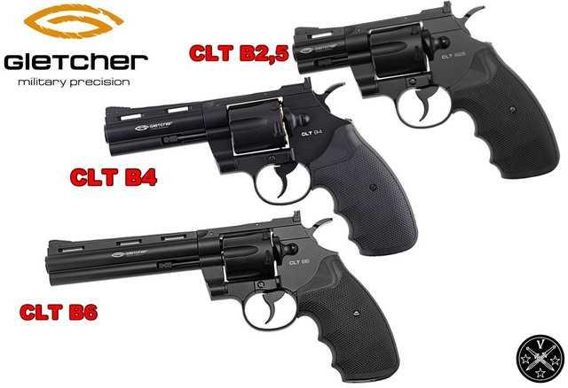 Пневматические револьверы Gletcher - CLT B2,5 , CLT B4 и CLT B6