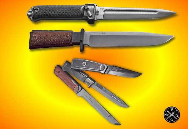 Ножи с рукоятками стилизованными под известные модели пистолетов