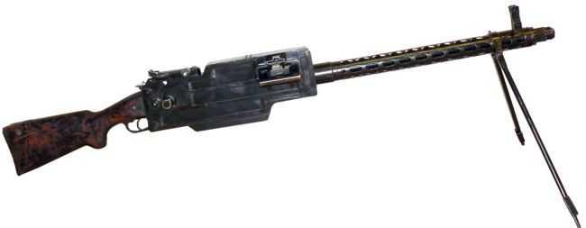 5)дальние родственники. Первые ручные пулеметы