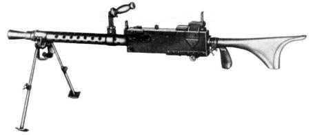 7)дальние родственники. Первые ручные пулеметы