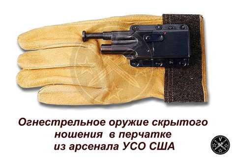 Пистолет скрытого ношения в перчатке