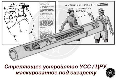 Стреляющее устройство-сигарета