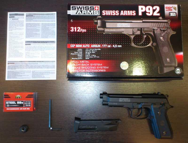 1)Обзор пистолета Swiss Arms P 92
