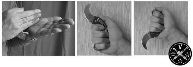 Прямой и обратный хват ножа