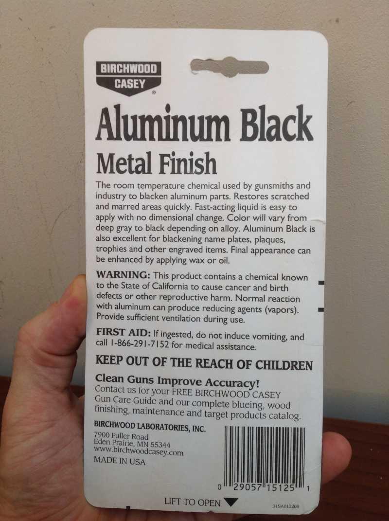 2)Бестемпературное воронение металла