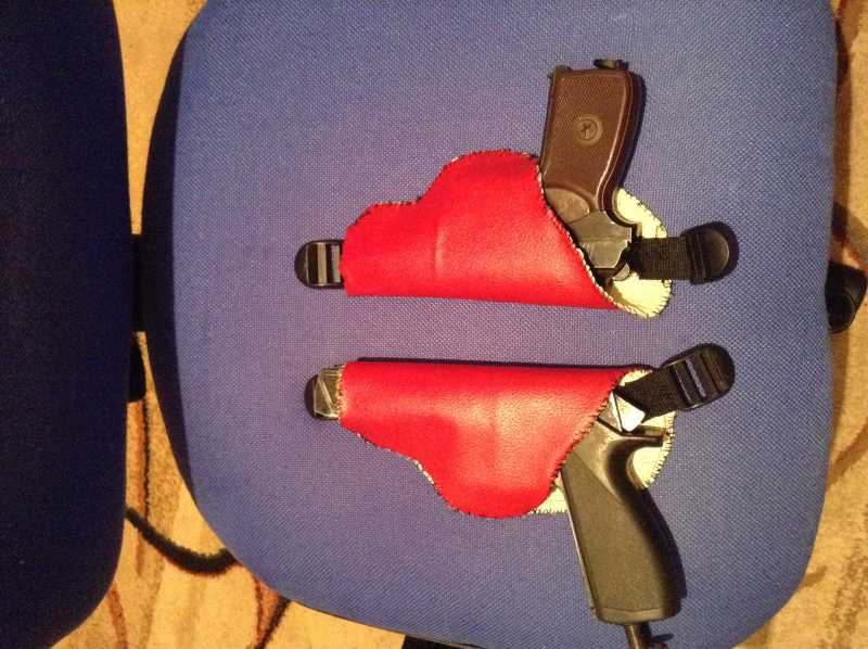 12)Кобура оперативная на два пистолета
