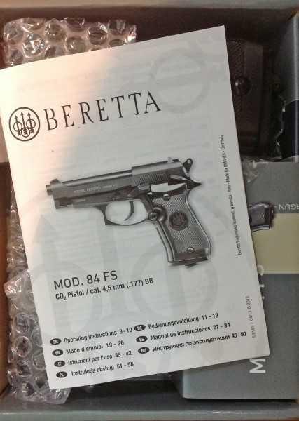 4)для конкурса (Пневматический пистолет umarex beretta 84 fs)