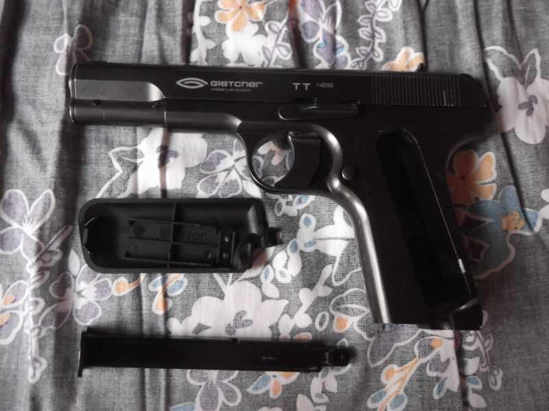3)Полная/неполная разборка пистолета Gletcher TT NBB