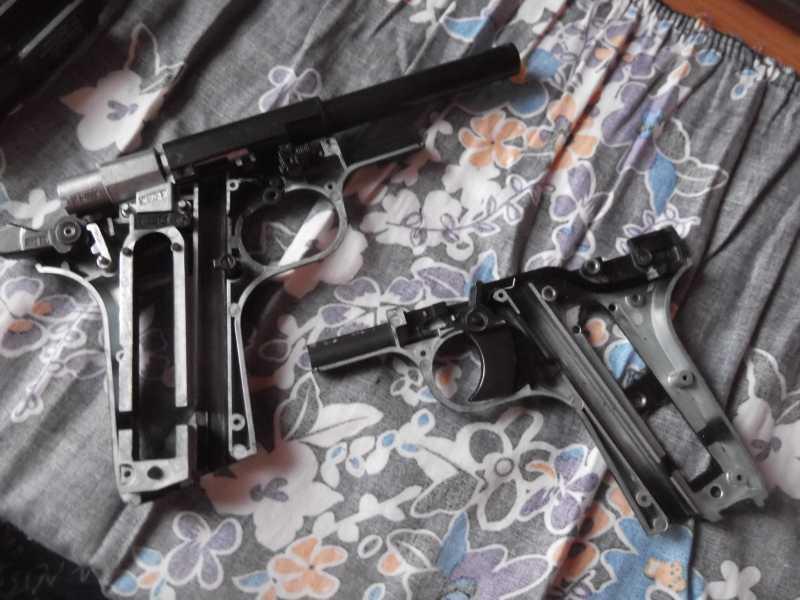 10)Полная/неполная разборка пистолета Gletcher TT NBB