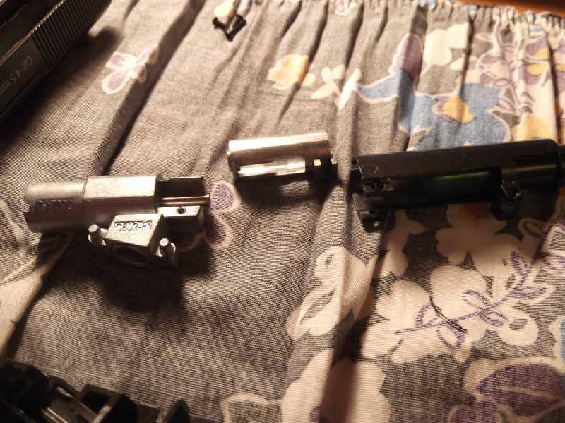 21)Полная/неполная разборка пистолета Gletcher TT NBB