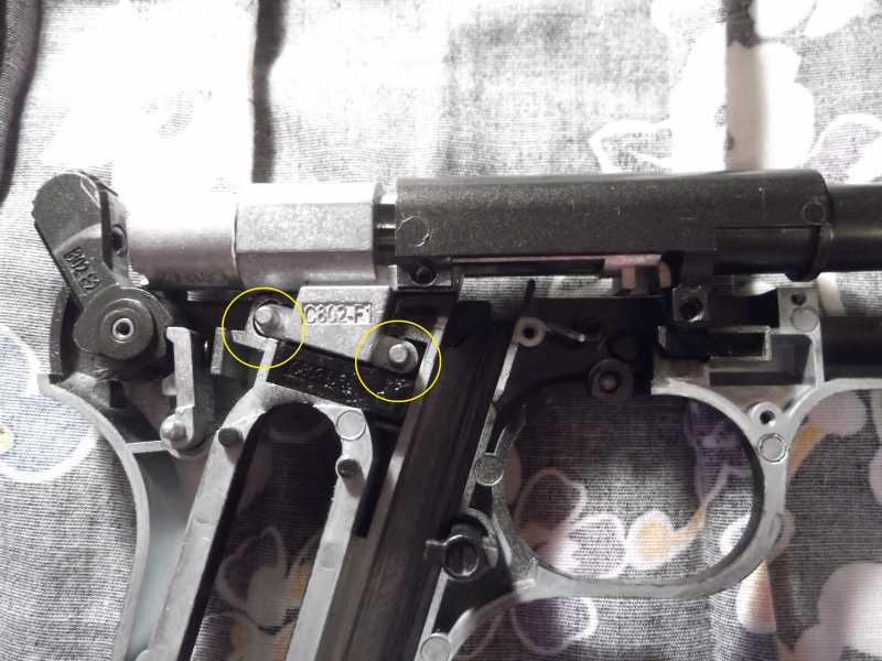 32)Полная/неполная разборка пистолета Gletcher TT NBB