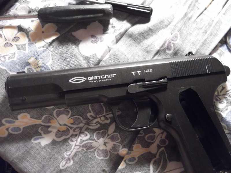 51)Полная/неполная разборка пистолета Gletcher TT NBB