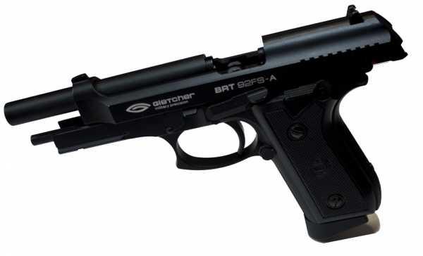 4)Пневматический пистолет Glether BRT 92 FS