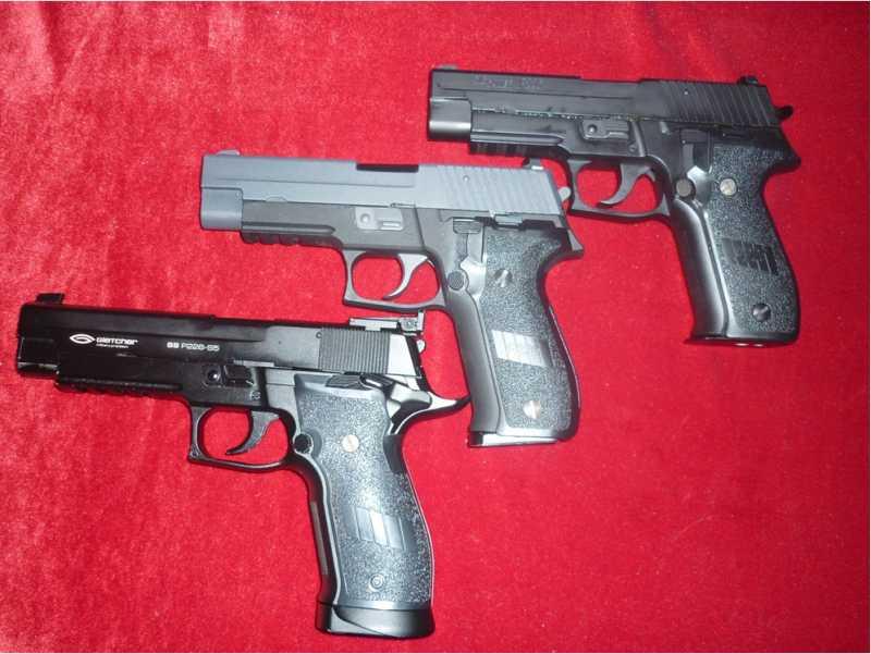 1)Обзор Airsoft пистолетов Sig Sauer P226 (ТМ и WE)