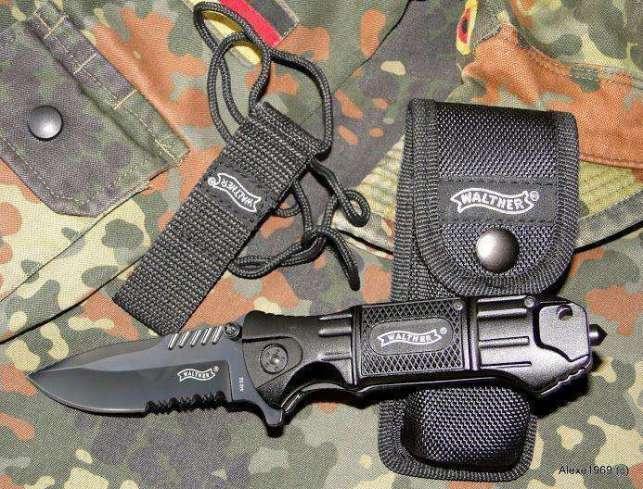 10)Складной нож WALTHER BLACK TAC - фотообзор.