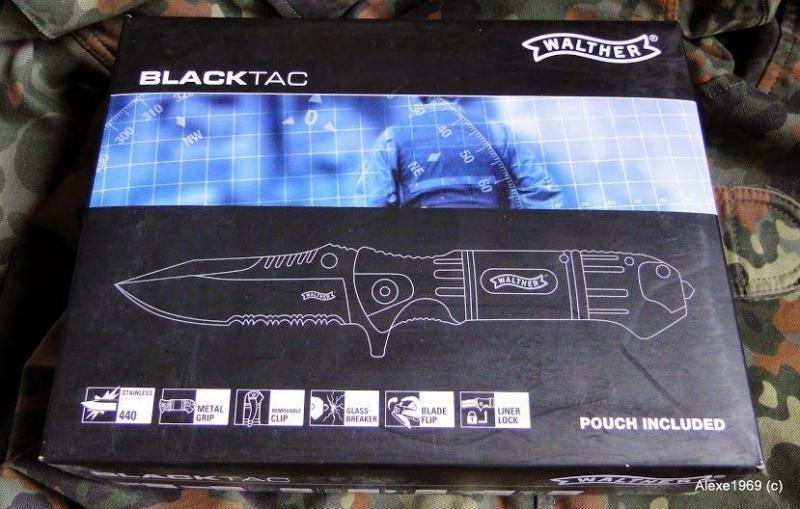 11)Складной нож WALTHER BLACK TAC - фотообзор.