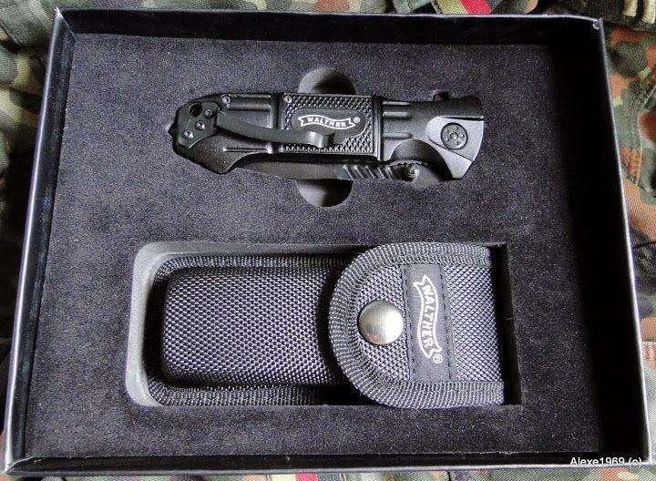 12)Складной нож WALTHER BLACK TAC - фотообзор.