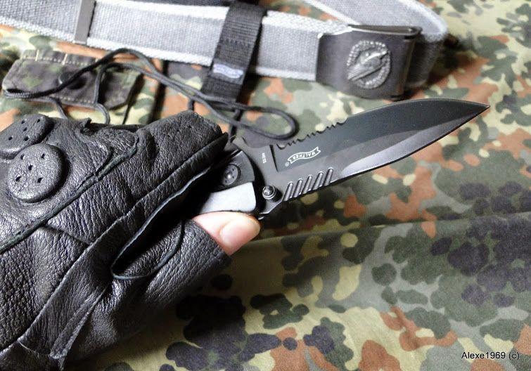 15)Складной нож WALTHER BLACK TAC - фотообзор.