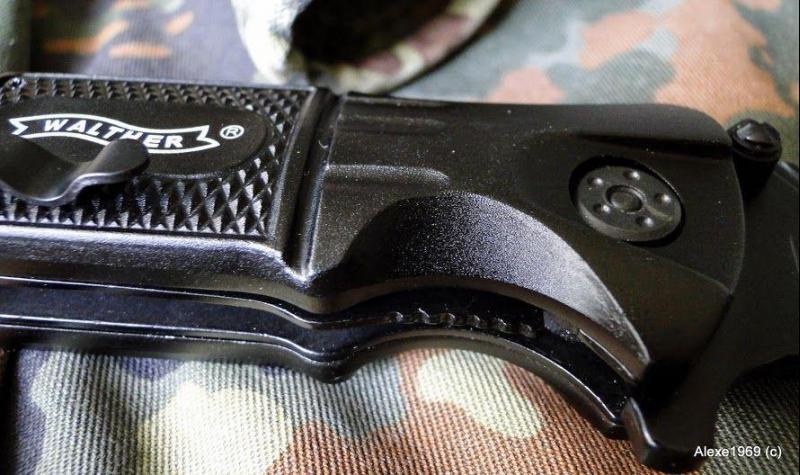 2)Складной нож WALTHER BLACK TAC - фотообзор.