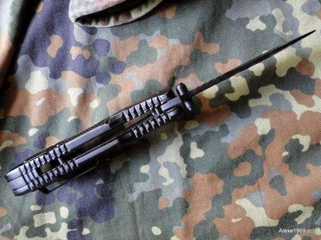 3)Складной нож WALTHER BLACK TAC - фотообзор.