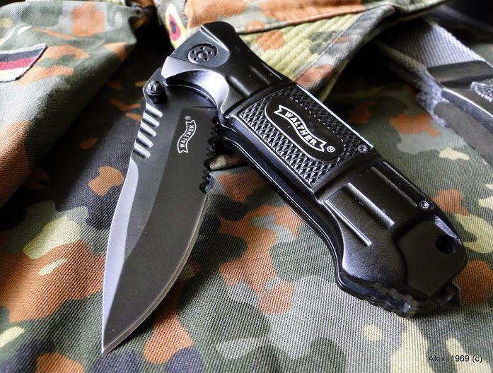6)Складной нож WALTHER BLACK TAC - фотообзор.
