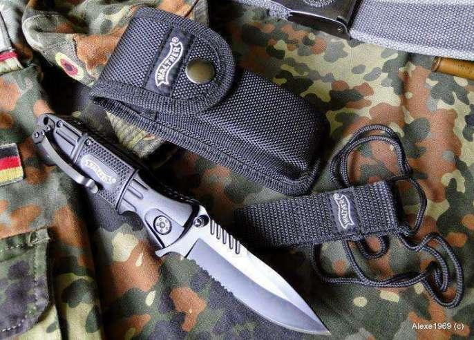 7)Складной нож WALTHER BLACK TAC - фотообзор.