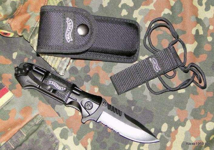 9)Складной нож WALTHER BLACK TAC - фотообзор.