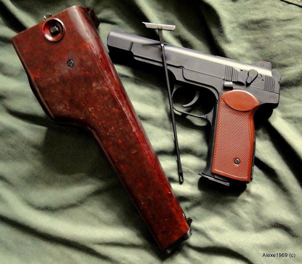 8)Пневматический пистолет Gletcher APS-P с кобурой - фотообзор.