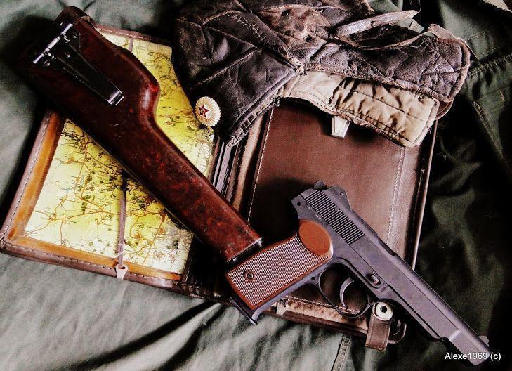 11)Пневматический пистолет Gletcher APS-P с кобурой - фотообзор.