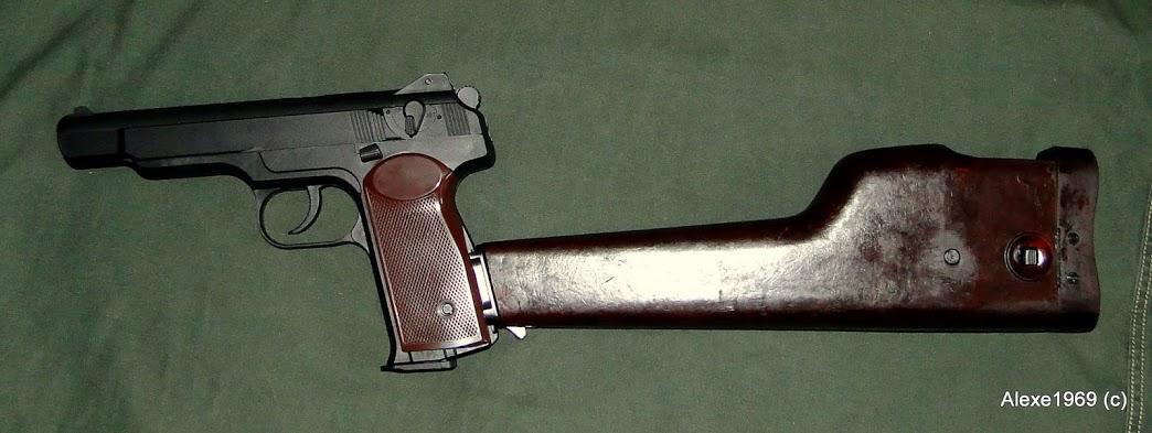 5)Пневматический пистолет Gletcher APS-P с кобурой - фотообзор.