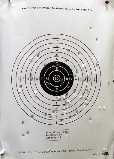3)Пневматический пистолет Gletcher APS-P  - стрельба.