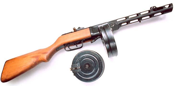 2)Пистолеты-пулеметы времён Великой Отечественной войны в киноиндустрии